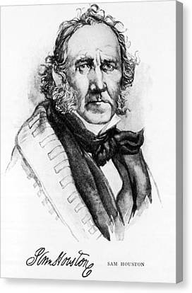 Samuel Houston, 1793-1863, American Canvas Print by Everett