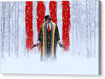 Samuel L Jackson The Hateful Eight Canvas Print by Movie Poster Prints