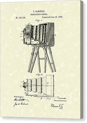 Samuels Photographic Camera 1885 Patent Art Canvas Print by Prior Art Design