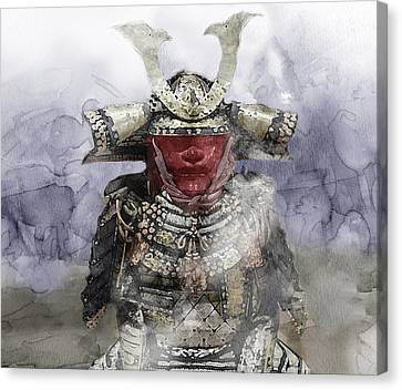 Samurai 054526236226 Canvas Print by Jani Heinonen