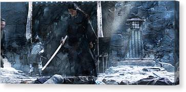 Samurai 07888 Canvas Print by Jani Heinonen