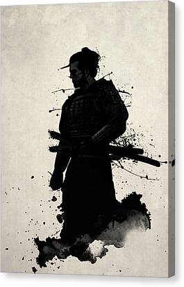 Illustrations Canvas Print - Samurai by Nicklas Gustafsson