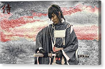 Samurai Warrior Canvas Print by Ian Gledhill