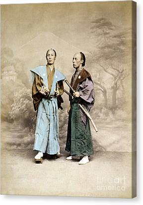 Chivalrous Canvas Print - Samurai Warriors, 1877 by Science Source