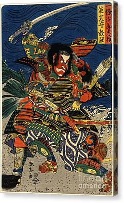 Samurai Warriors Battle 1819 Canvas Print by Padre Art