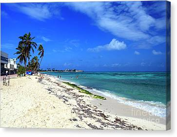 San Andres Island Beach View Canvas Print by John Rizzuto