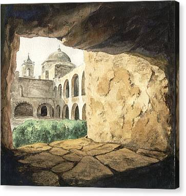 San Antonio Mission Canvas Print