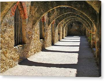 Canvas Print featuring the photograph San Antonio Mission San Jose by Gregory Ballos