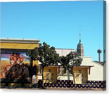 San Antonio Skyline Canvas Print by Thomas R Fletcher