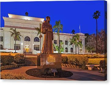 Canvas Print featuring the photograph San Buenaventura City Hall by Susan Candelario