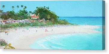 San Clemente Beach Panorama Canvas Print by Jan Matson