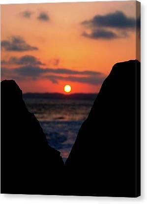 San Clemente Beach Rock View Sunset Portrait Canvas Print