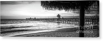 Clemente Canvas Print - San Clemente Black And White Panorama Photo by Paul Velgos