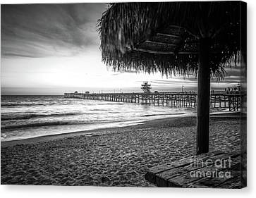 San Clemente Canvas Print - San Clemente Ca Black And White Photo by Paul Velgos