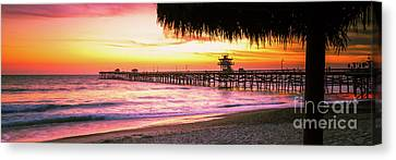 Clemente Canvas Print - San Clemente Ca Sunset Panorama Photo by Paul Velgos