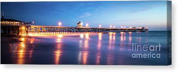Clemente Canvas Print - San Clemente California Pier Panorama Photo by Paul Velgos