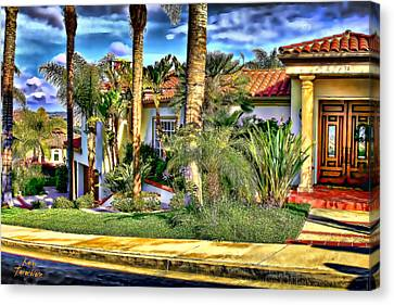 San Clemente Estate 3 Canvas Print by Kathy Tarochione