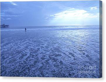 Canvas Print - San Clemente In Blue by Linda Queally
