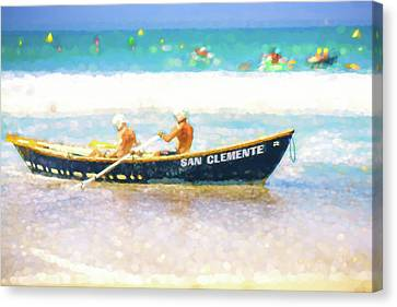 Clemente Canvas Print - San Clemente Lifeboat Race Watercolor by Scott Campbell