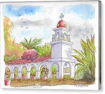 San Clemente Mission Parish, Bakersfield, California Canvas Print by Carlos G Groppa