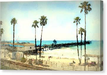 San Clemente Painted 2 Canvas Print