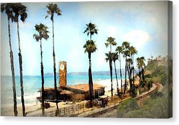 San Clemente Painted Canvas Print