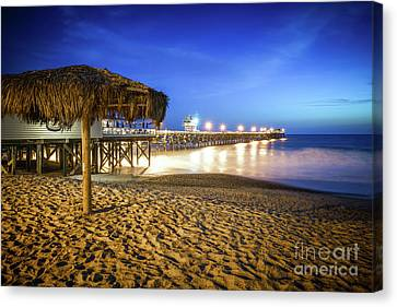 Clemente Canvas Print - San Clemente Pier At Night by Paul Velgos
