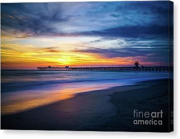 Clemente Canvas Print - San Clemente Pier At Sunset Photo by Paul Velgos