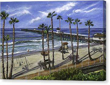San Clemente Pier Canvas Print by Lisa Reinhardt