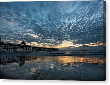 San Clemente Pier Sunset Canvas Print by Scott Cunningham