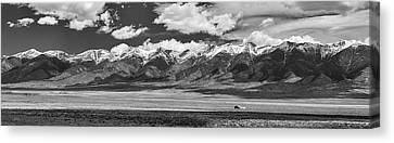 San De Cristo Mountains Panorama In Black And White Canvas Print by James BO Insogna