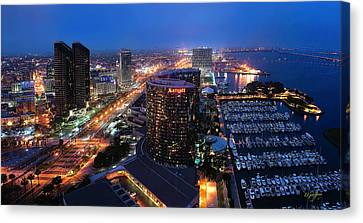 Canvas Print featuring the photograph San Diego Bay by Lynn Geoffroy