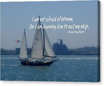 San Diego Bay Quote Canvas Print