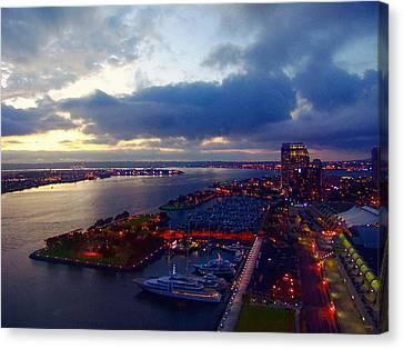San Diego By Night Canvas Print