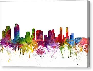 San Diego Cityscape 06 Canvas Print by Aged Pixel