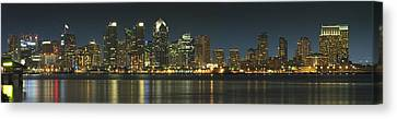 San Diego Cityscape Canvas Print by Mike McGlothlen
