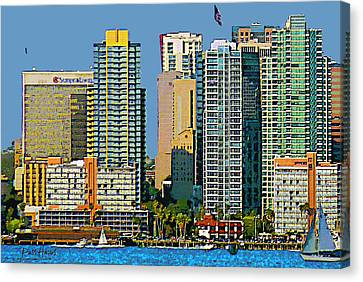 San Diego Downtown Living - Bayside Canvas Print by Russ Harris
