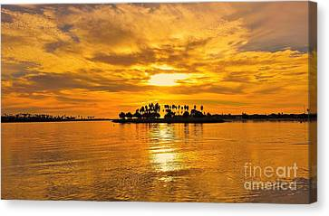 San Diego Golden Sky By Jasna Gopic Canvas Print by Jasna Gopic