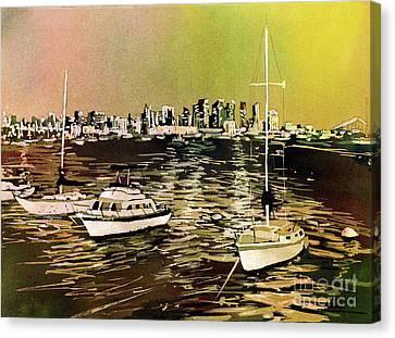 San Diego Harbor Canvas Print