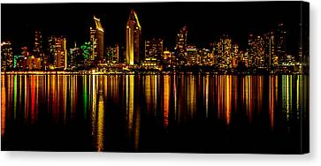 San Diego Panoramic Canvas Print by Bill Gallagher
