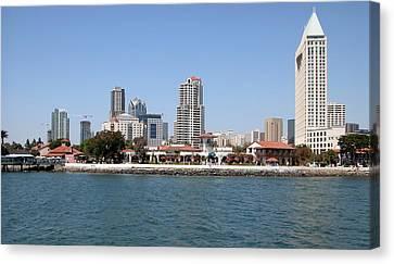 San Diego Skyline 3 Canvas Print by Joseph R Luciano