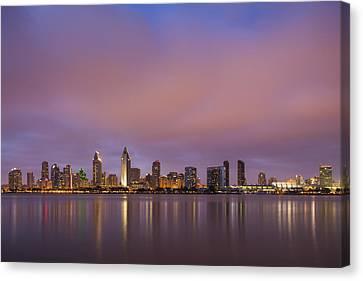 San Diego Skyline Canvas Print by Adam Romanowicz