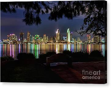 San Diego Skyline Canvas Print by Eddie Yerkish