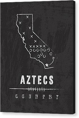 San Diego State Aztecs Country Canvas Print