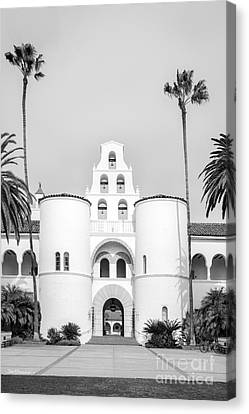 San Diego State University Hepner Hall Vertical Canvas Print by University Icons