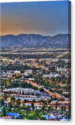 San Fernando Valley Vertical Canvas Print by David Zanzinger