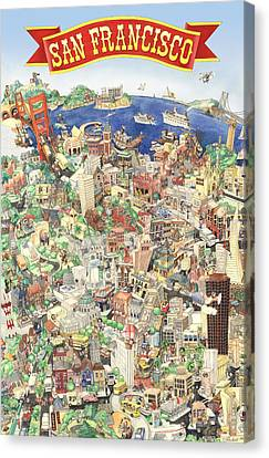 San Francisco - Where East Meets West Canvas Print by Philippe Plouchart