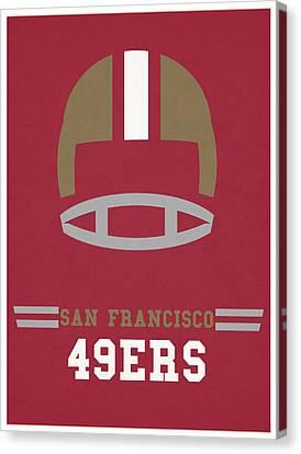 San Francisco 49ers Vintage Art Canvas Print by Joe Hamilton