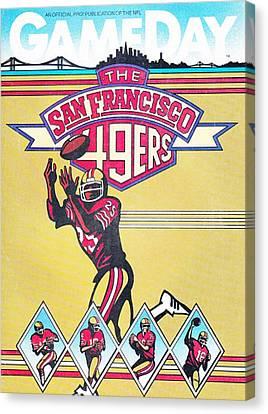 San Francisco 49ers Vintage Program Canvas Print by Joe Hamilton
