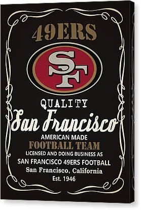 San Francisco 49ers Whiskey Canvas Print by Joe Hamilton